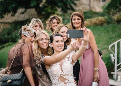 selfie amiche della sposa