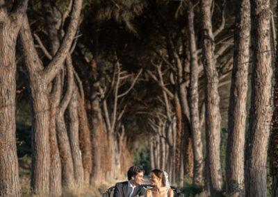 Coppia sposi viale Torgiano